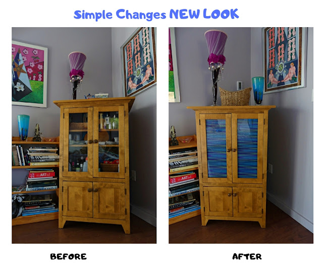 Wood Cupboard Transformation Before & After