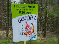 Schild Großer Beerberg