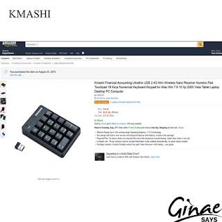 Product Review: Kmashi Wireless Keypad