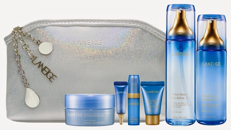 Laneige Sparkling Perfect Renew Essentials, Gift Set, Laneige 2014 Holiday Collection, Laneige, Holiday Set, Christmas Set, Skincare, Makeup, Beauty