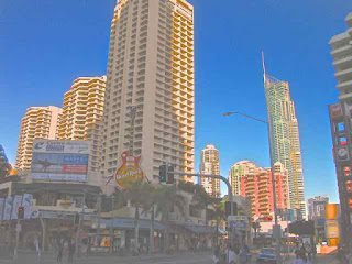 Paradise Centre and Surfers Paradise Boulevard 10 July 2010