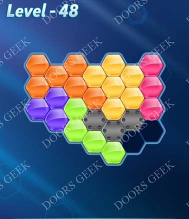 Block! Hexa Puzzle [6 Mania] Level 48 Solution, Cheats, Walkthrough for android, iphone, ipad, ipod