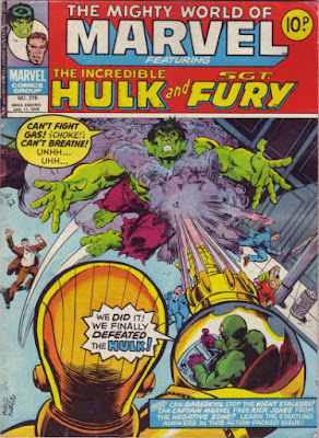 Mighty World of Marvel #276, Hulk vs Quintronic Man