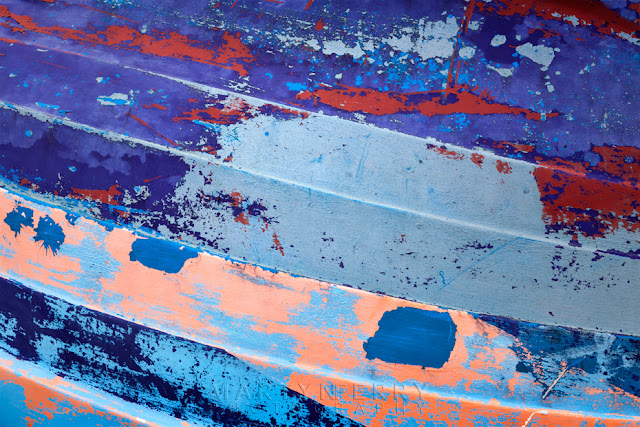Abstract image of boat paintwork at Abstract image of boat paintwork