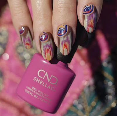 CND Wild Earth Nail Art with all 6 shades