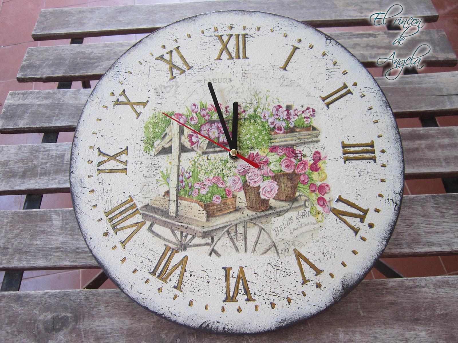 El Rincon De Angela Como Decorar Un Reloj De Madera Estilo Vintage - Como-decorar-madera