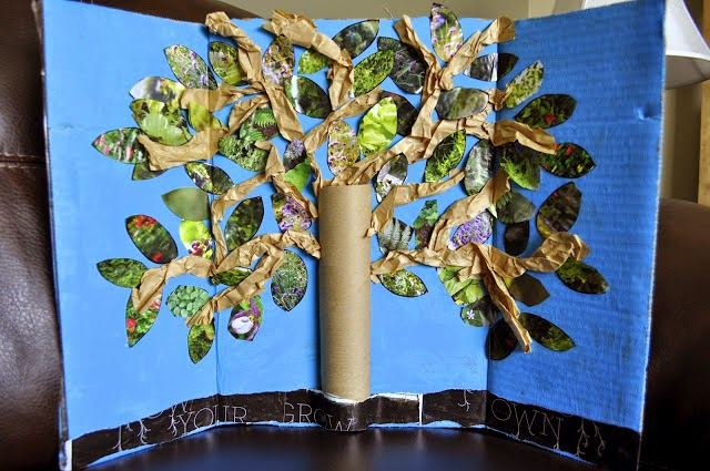 Tissue Paper Toilet Paper Roll Tree For Earth Day