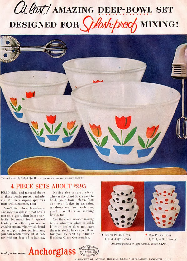 Farm Girl Pink....: ~ Fire King Mixing bowls - vintage ...