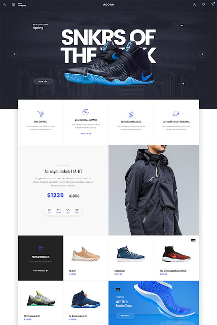 agora awesome eCommerce PSD website template