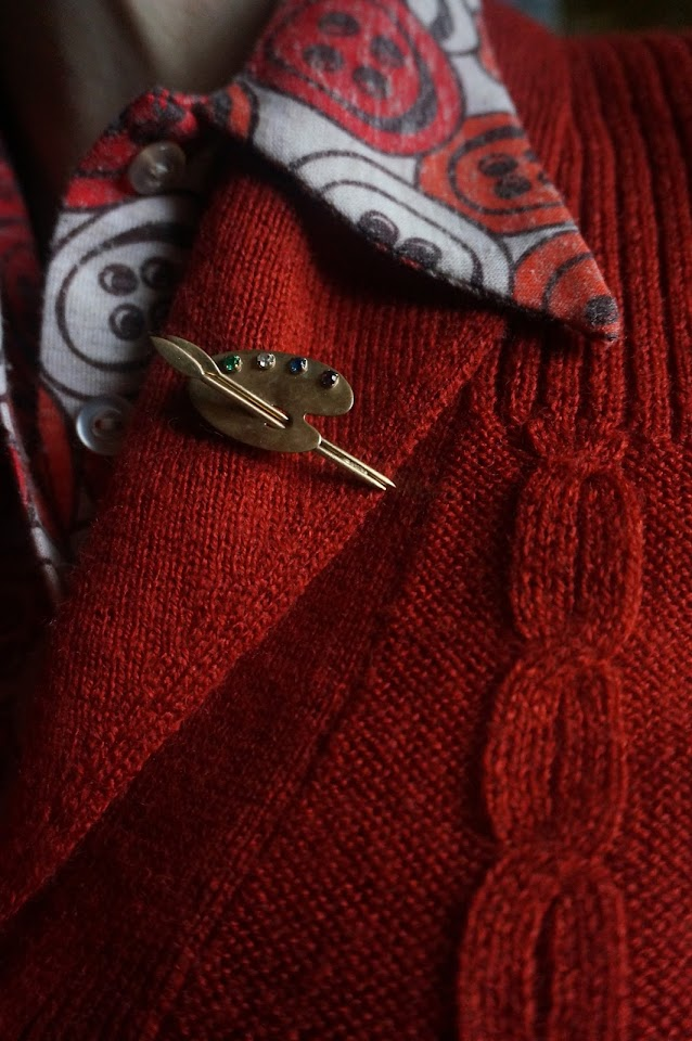 palette broche brooch vintage