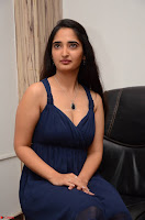 Radhika Mehrotra in a Deep neck Sleeveless Blue Dress at Mirchi Music Awards South 2017 ~  Exclusive Celebrities Galleries 109.jpg