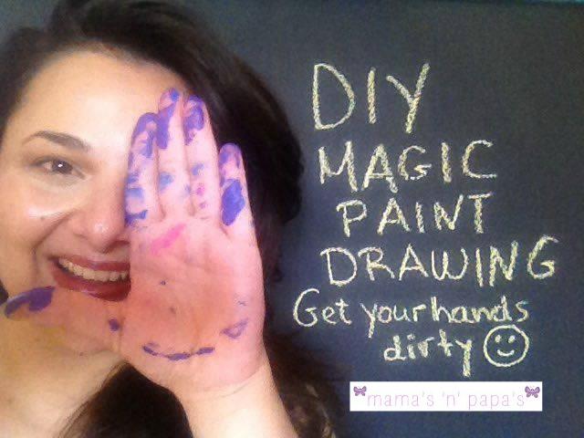 diy magic paint drawing