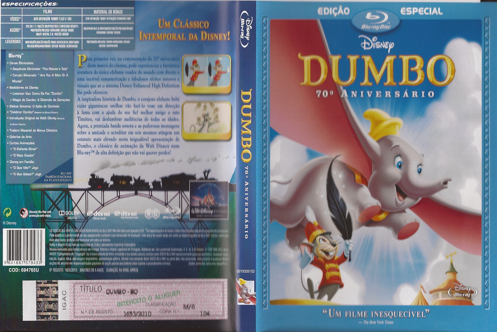 Dumbo 1941 BD50-COXINHA ~ coxinhafilmes