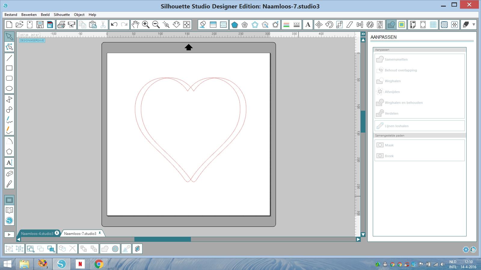 silhouette cameo curio les monogram in hart maken