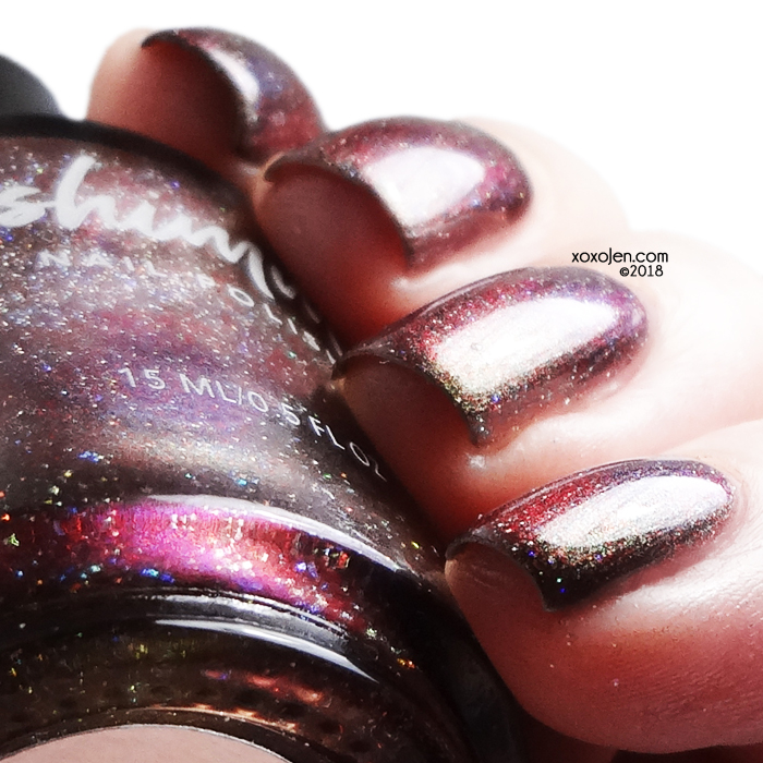 xoxoJen's swatch of KBShimmer Santa Claws (Magnetic Charity Polish)