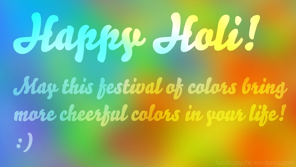 Happy Holi Wishes SMS in Advance