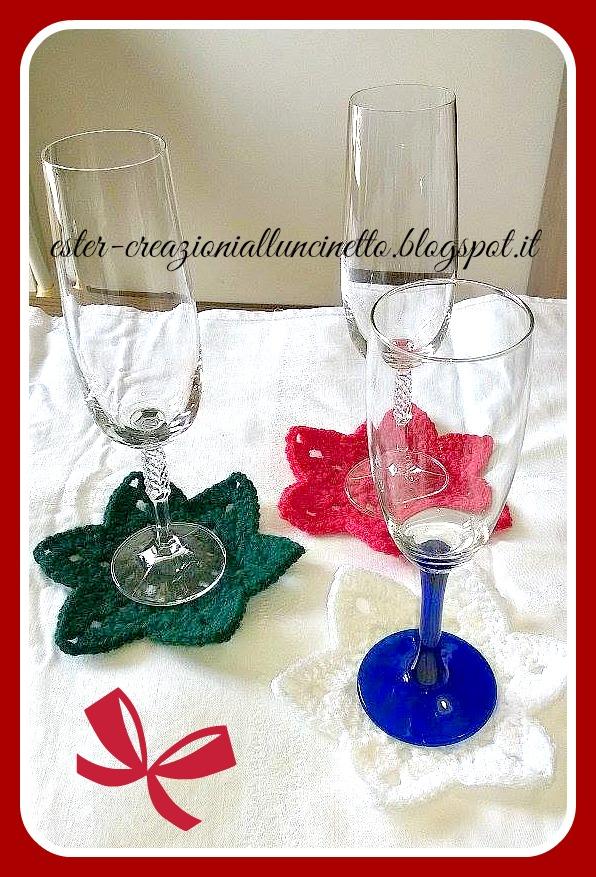 Estremamente I miei lavori all'uncinetto: Sotto bicchieri: Natale a uncinetto CW63