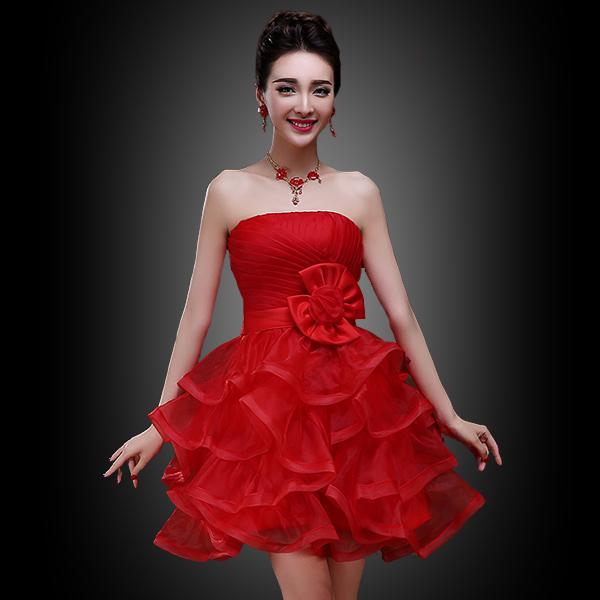 Dress Merah Pendek Kartu Nama Dan Brosur