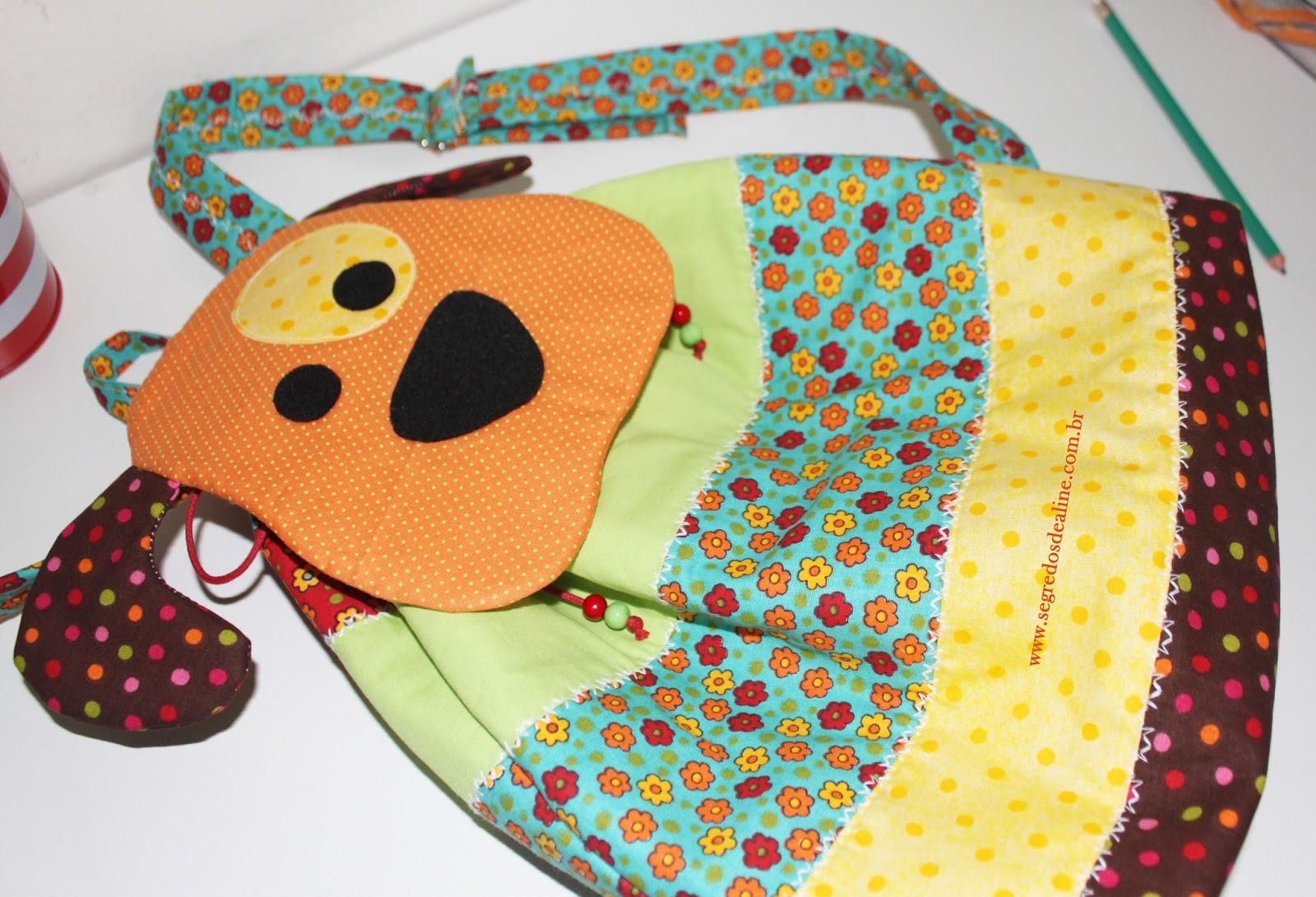 segredos de aline mochila infantil patchwork cachorrinho bolsa de tecido passo a passo. Black Bedroom Furniture Sets. Home Design Ideas