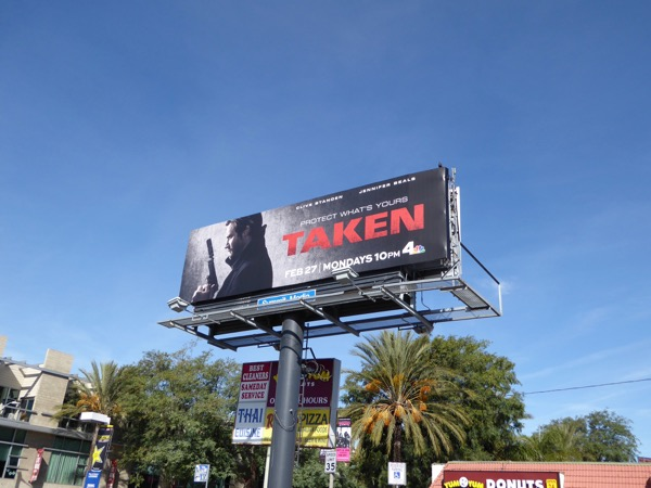 Taken series launch billboard