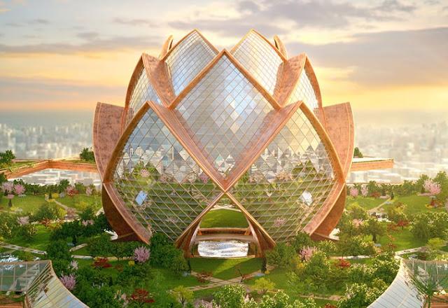 Город в небе - концепт город будущего от Hrama