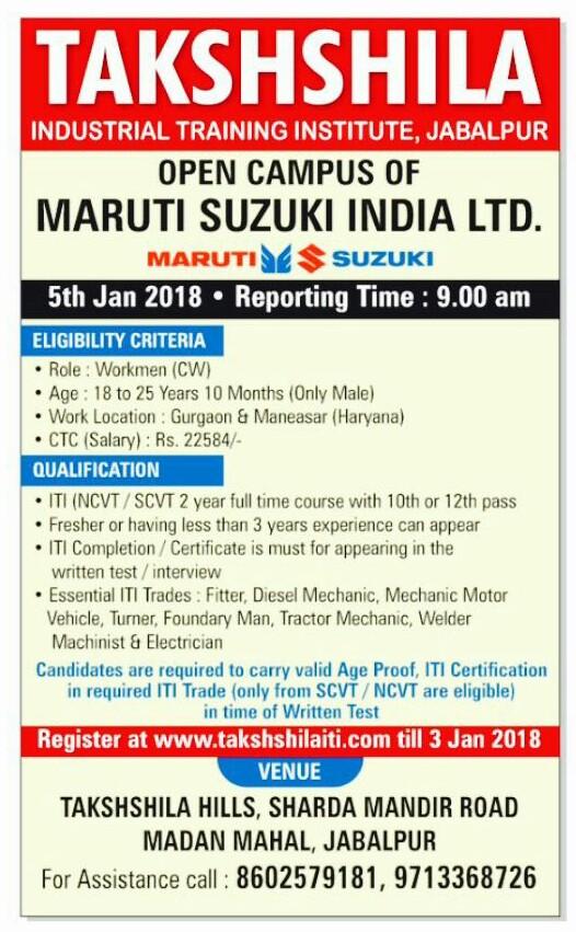 Maruti Suzuki campus interview