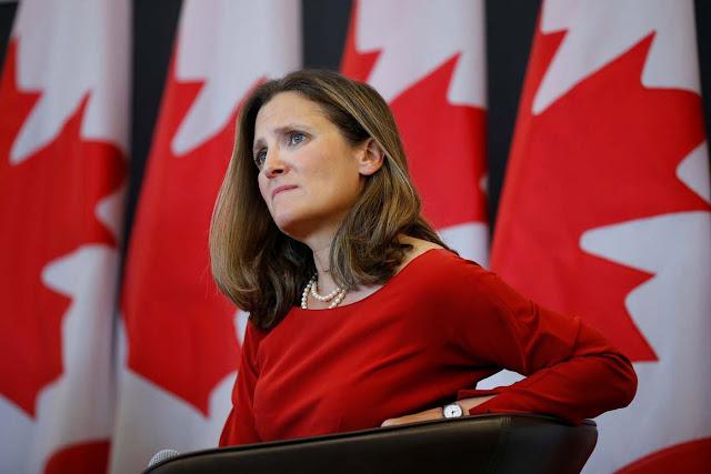 Ministra Chrystia Freeland anuncia que Canadá acogerá reunión urgente del Grupo Lima sobre Venezuela