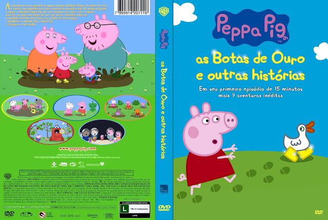 Capa DVD Peppa Pig As Botas De Ouro E Outras Histórias