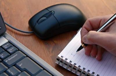 Menulis artikel di potingan blog