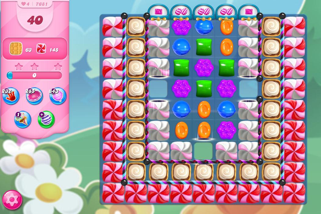 Candy Crush Saga level 7681