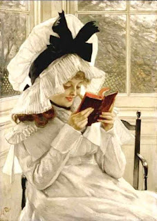 Reading-a-book -James Tissot