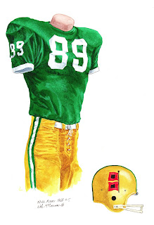 1968 University of Miami Hurricanes football uniform original art for sale