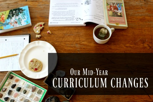 When it's clearly not working, you have to change things up. Here's a look at our curriculum changes for the second half of the homeschool year.