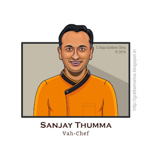 vahchef sanjay thumma caricature cartoon