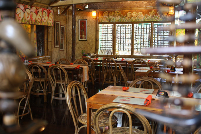 The restaurant shows the rich culture of Palawan province.