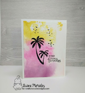 Find your Paradise card by Diane Morales  Using Paradise Palms Stamp Set