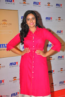 Sree Mukhi in Pink Kurti looks beautiful at Meet and Greet Session at Max Store (65).JPG
