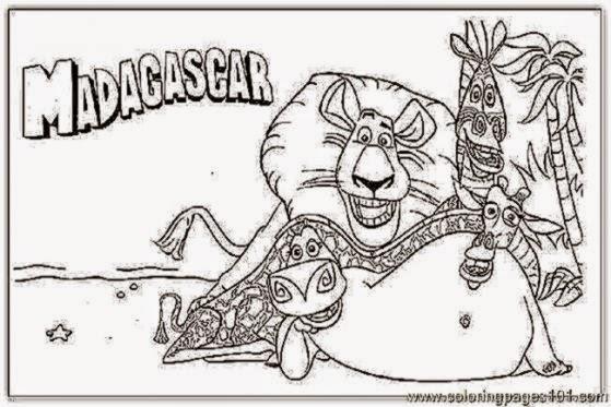 Alex Madagascar 2 Coloring Pages Coloringsnet