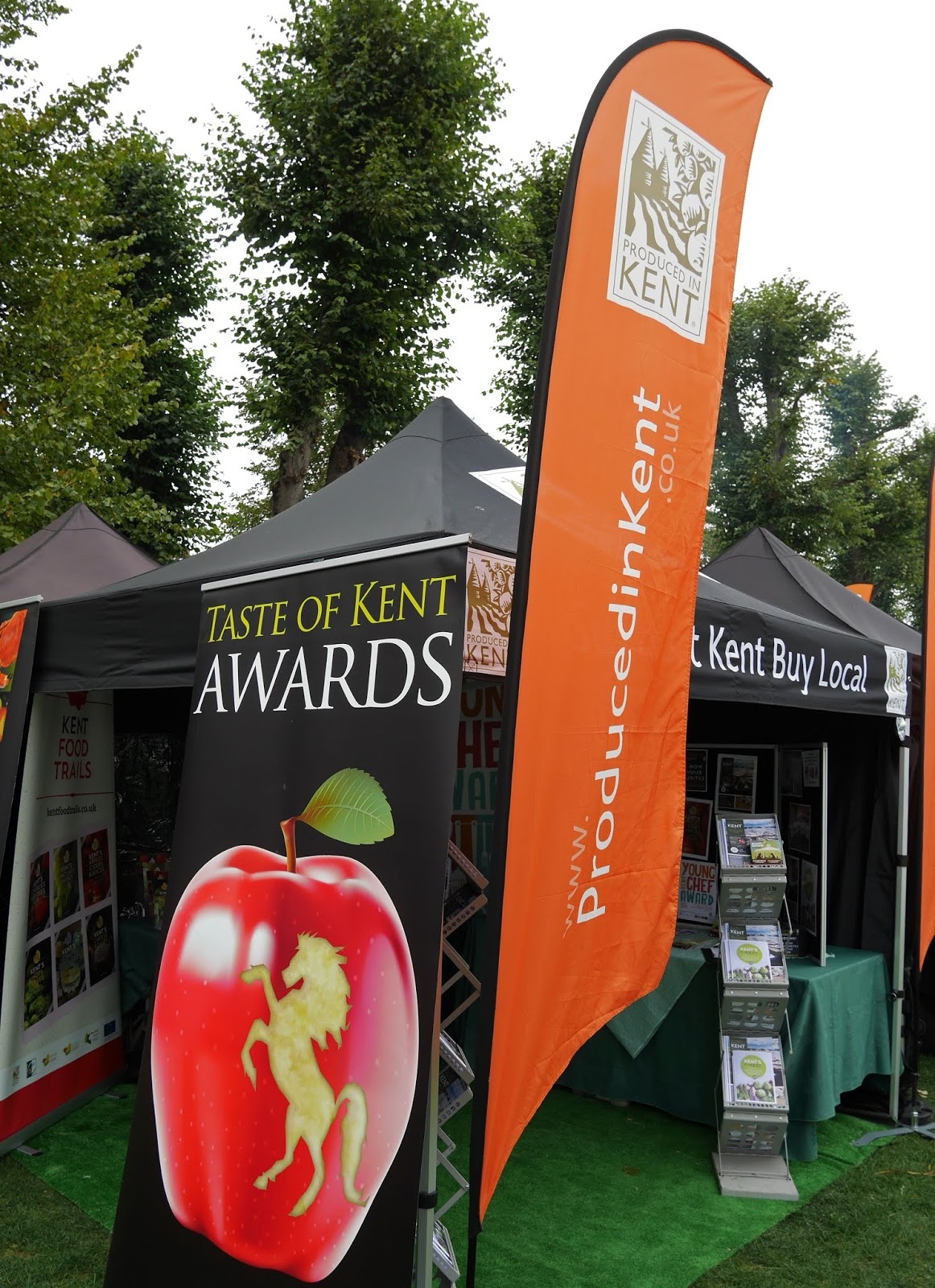 Taste of Kent Awards sign at the Canterbury Food Festival