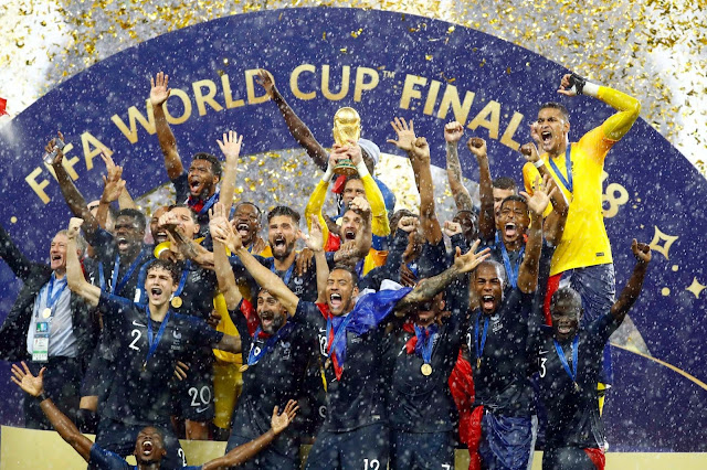 France beat Croatia in the FIFA World Cup 2018 final at the Luzhniki Stadium in Moscow