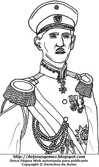Imagen de Eleazar López Contreras para colorear pintar imprimir. Dibujo de Eleazar López Contreras de Jesus Gómez