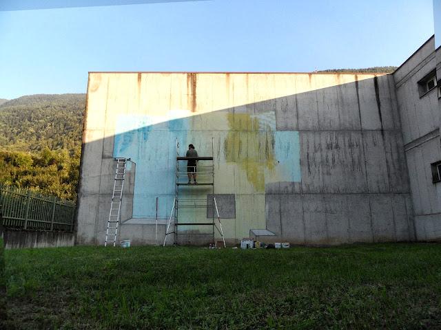 Abstract Street Art By Italian Artist Etnik In Tirano, Italy. 4