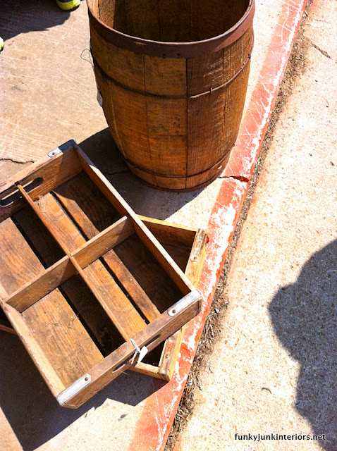 old crates and barrels