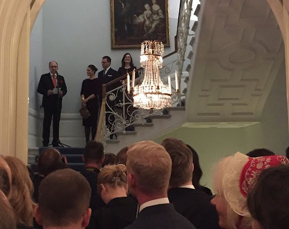 Crown Princess Victoria wore Anna Holtblad Black Rose draped dress