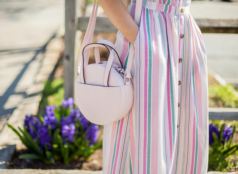 nordstrom bp stripe button front midi dress
