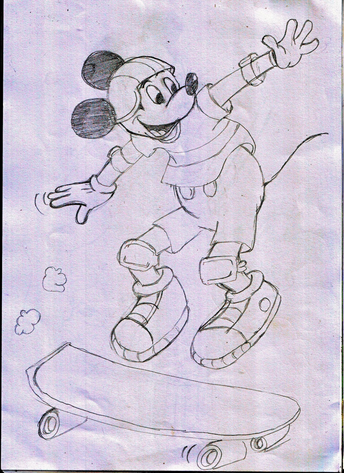 Cara Membuat Gambar Kartun Mickey Mouse