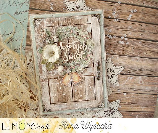 Jak zrobić kartkę ze świątecznymi drzwiami / How to create a card with Christmas door