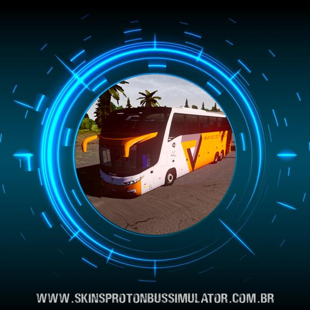 Skin Proton Bus Simulator - G7 1600 LD Scania 6X2 K420 Rápido Goyanazes