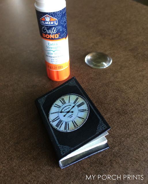 Steampunk Clock Cabochon Mini Book from My Porch Prints