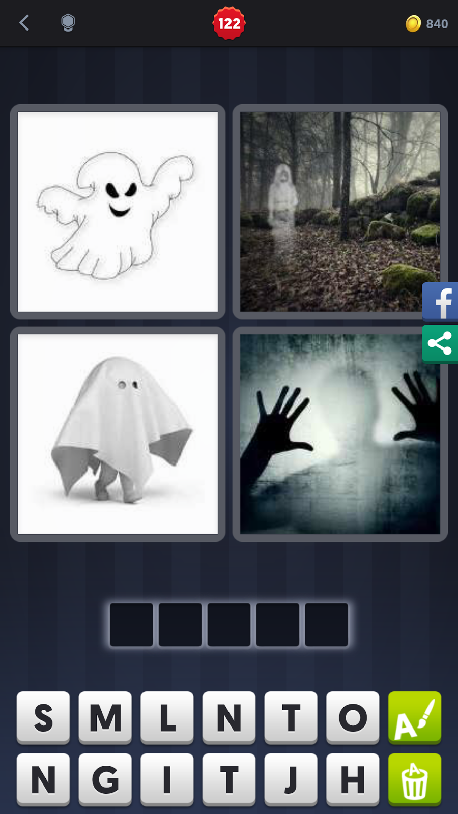 4 pics 1 word answers solutions level 122 ghost answer ghost aljukfo Gallery